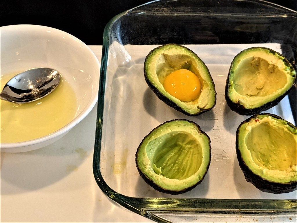 egg yolk added to avocado