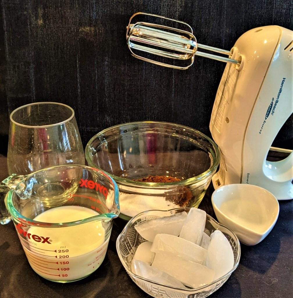 image of bowls, and mixer