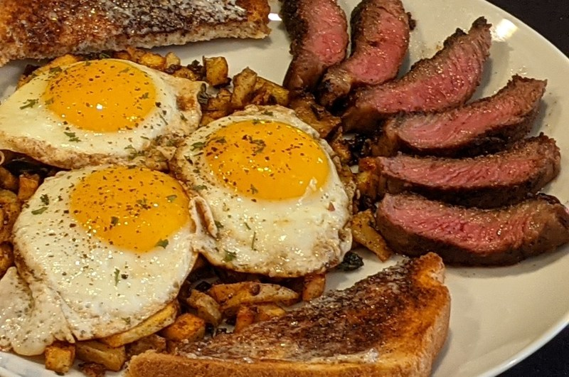 Father's Day Steak Breakfast