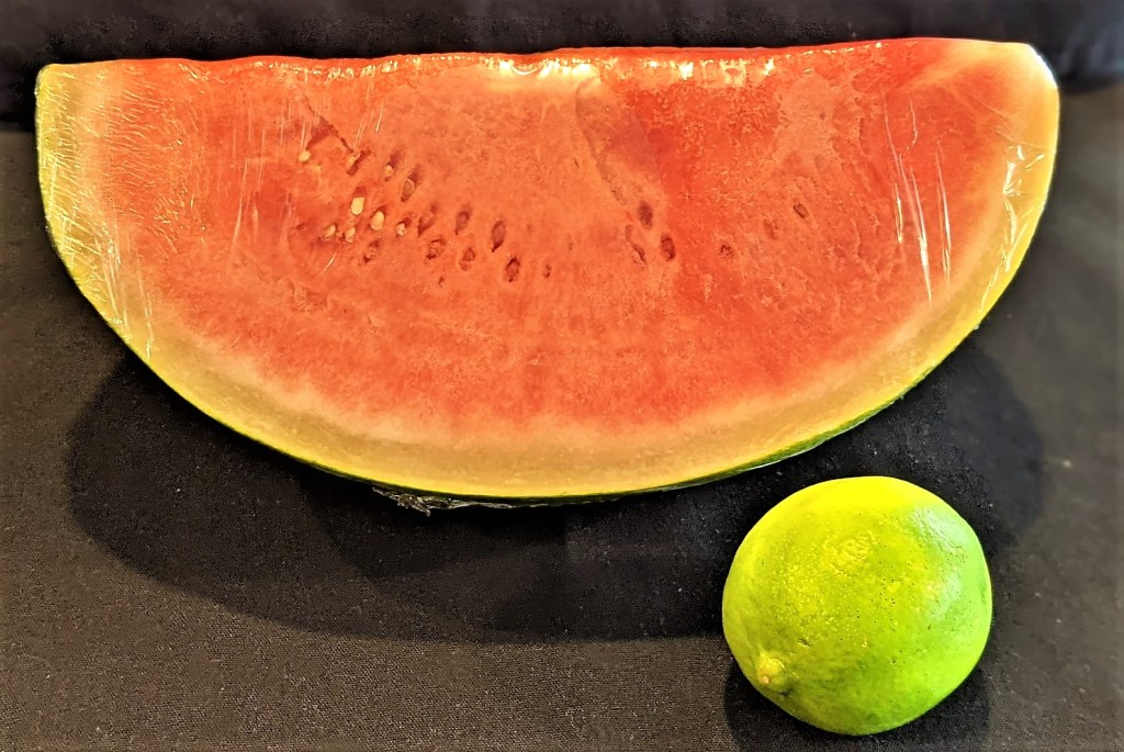 watermelon and lime