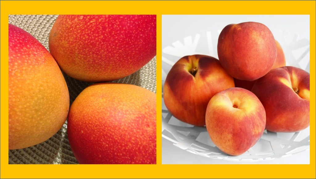 image of mangos and peaches