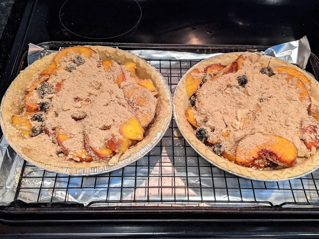 pies n the oven