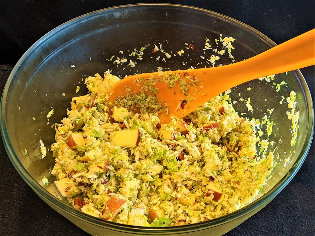 large bowl of slaw with spoon