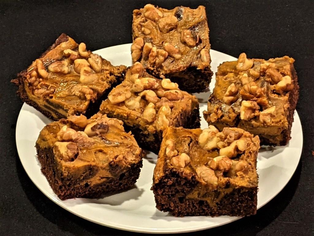 Easy Chocolate-Pumpkin Marbled Brownies
