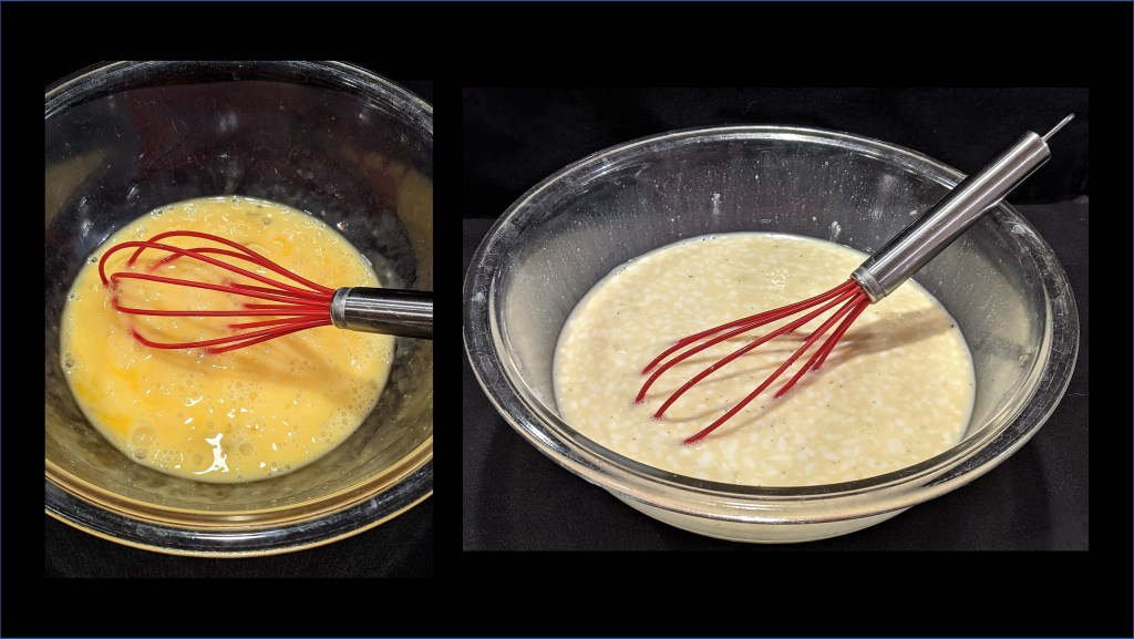 Egg mixture in bowl