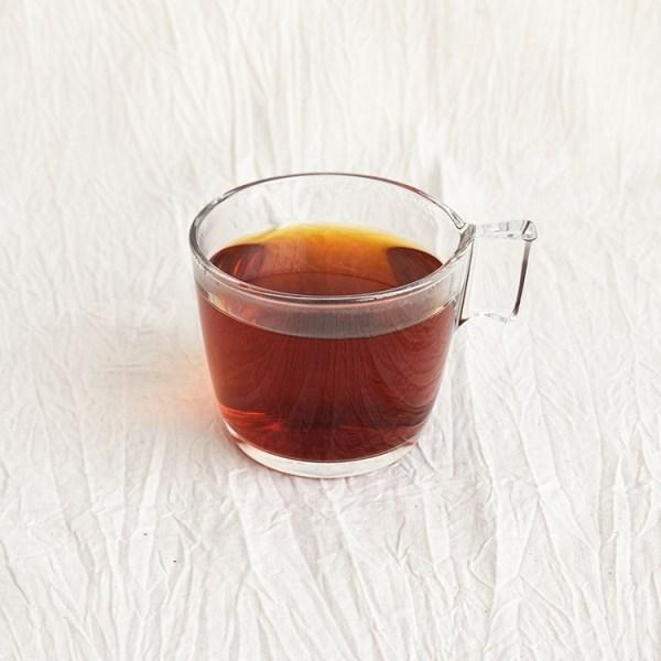 English breakfast tea in a glass