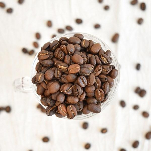 Ethiopian coffee bean in a Irish glass