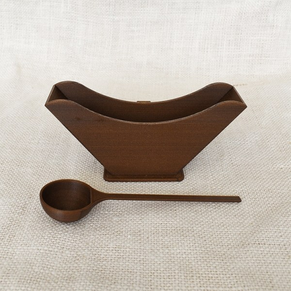 Coffee filter holder with coffee scoop