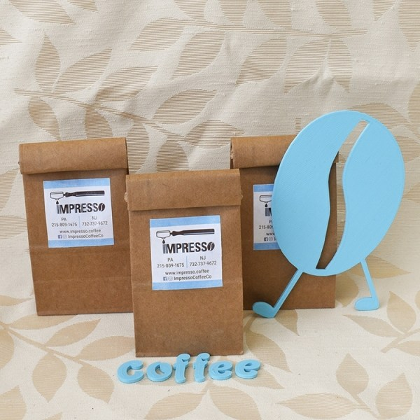3 bags of coffee beans
