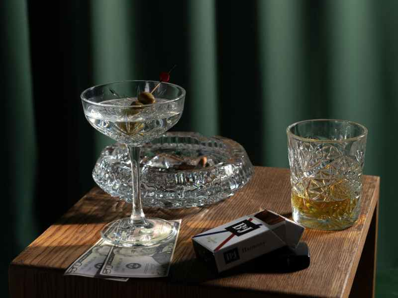 clear glass bowl on brown wooden table