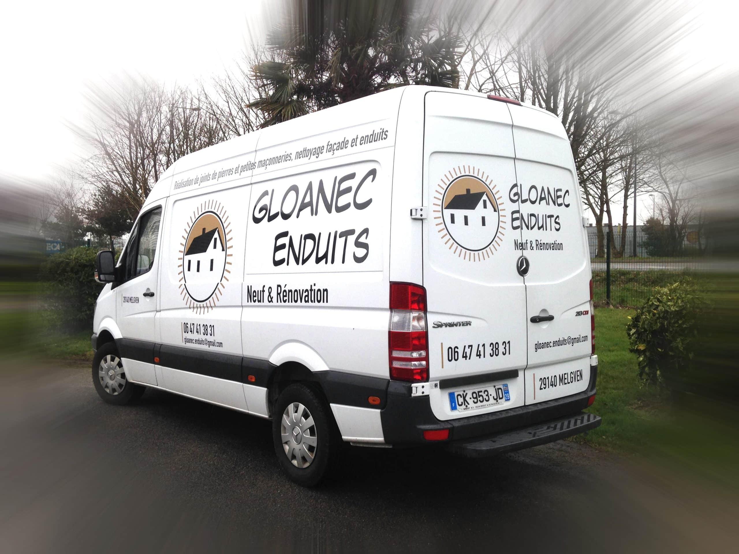 Marquage adhésif sur véhicule - Gloanec Enduits