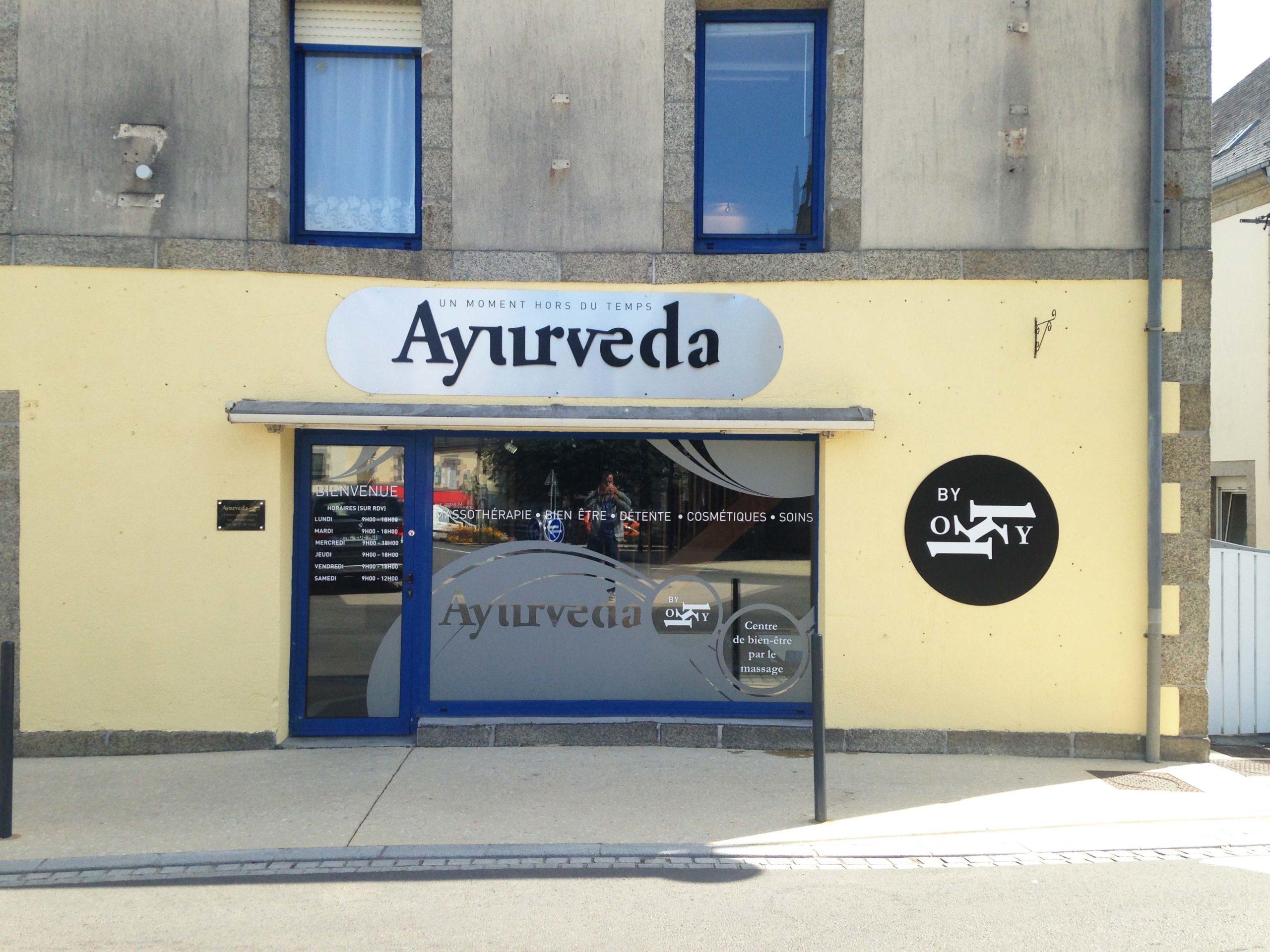 Ayurveda - Trégunc - Communication complète en signalétique