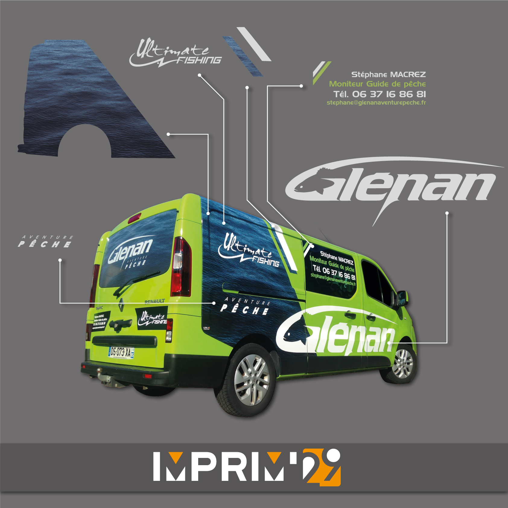 Glenan Aventure Peche - Marquage véhicule