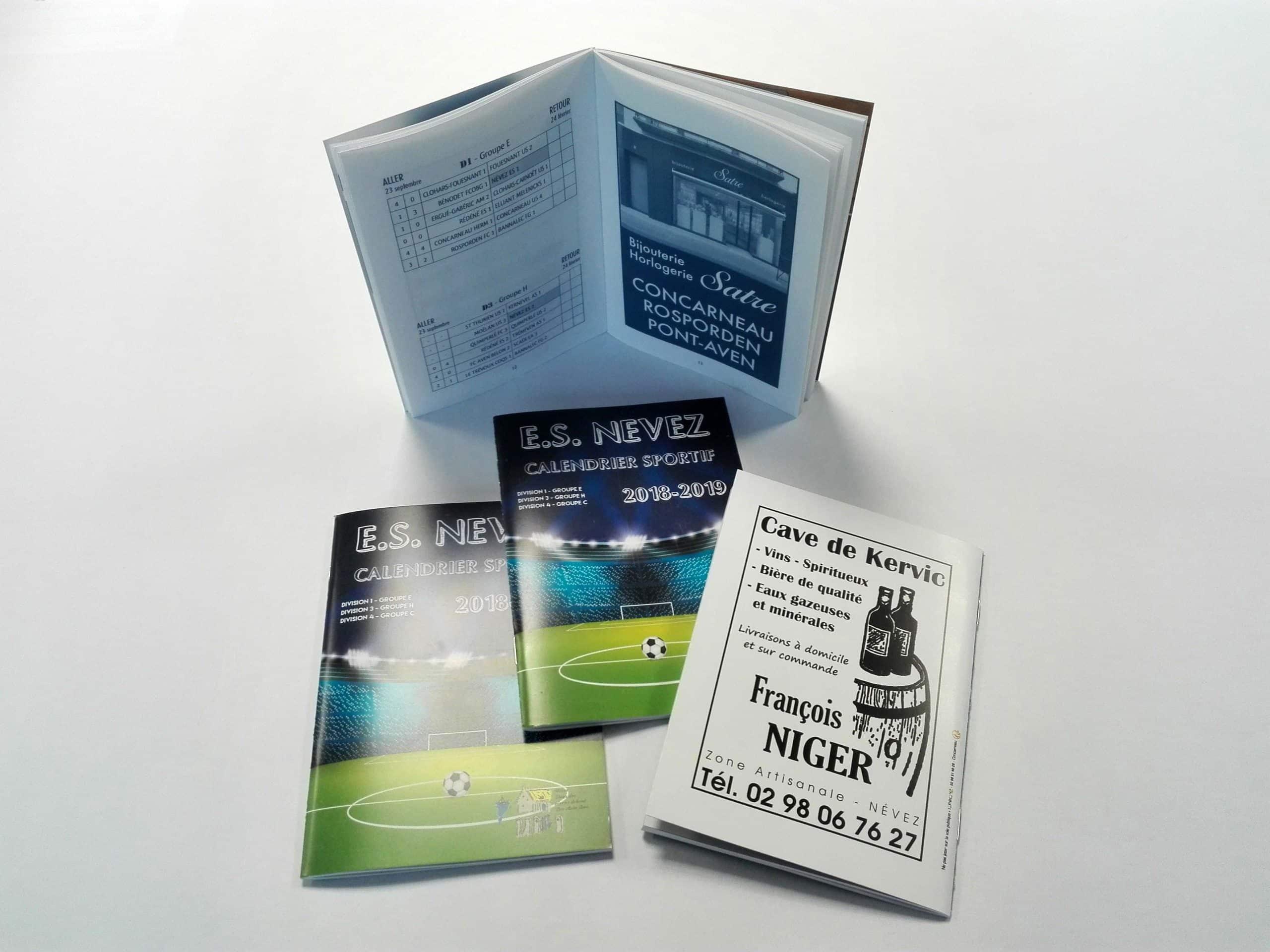 Brochure A6 - Calendrier sportif 2018-2019 - l'ES Nevez