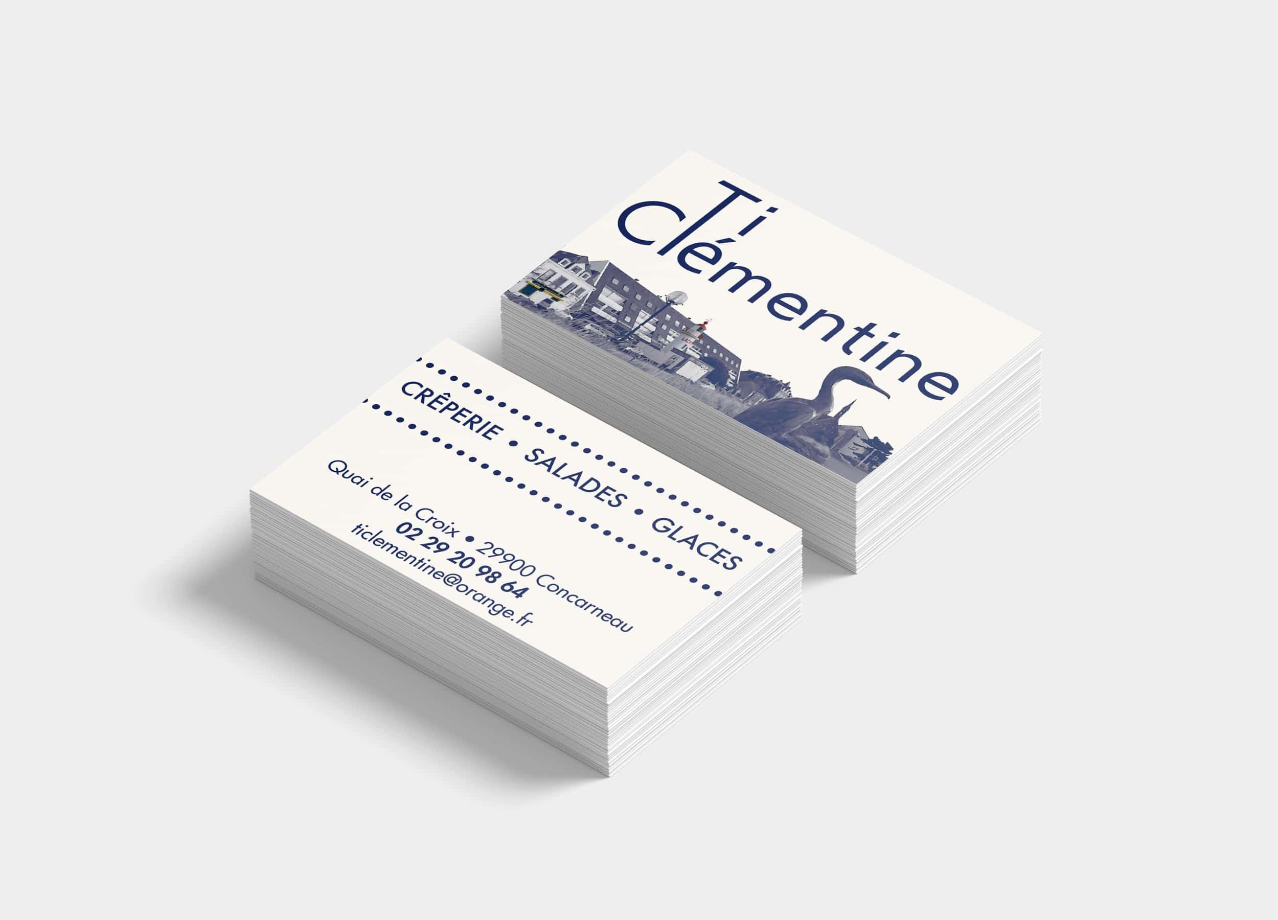 Ti Clémentine - Cartes de visite