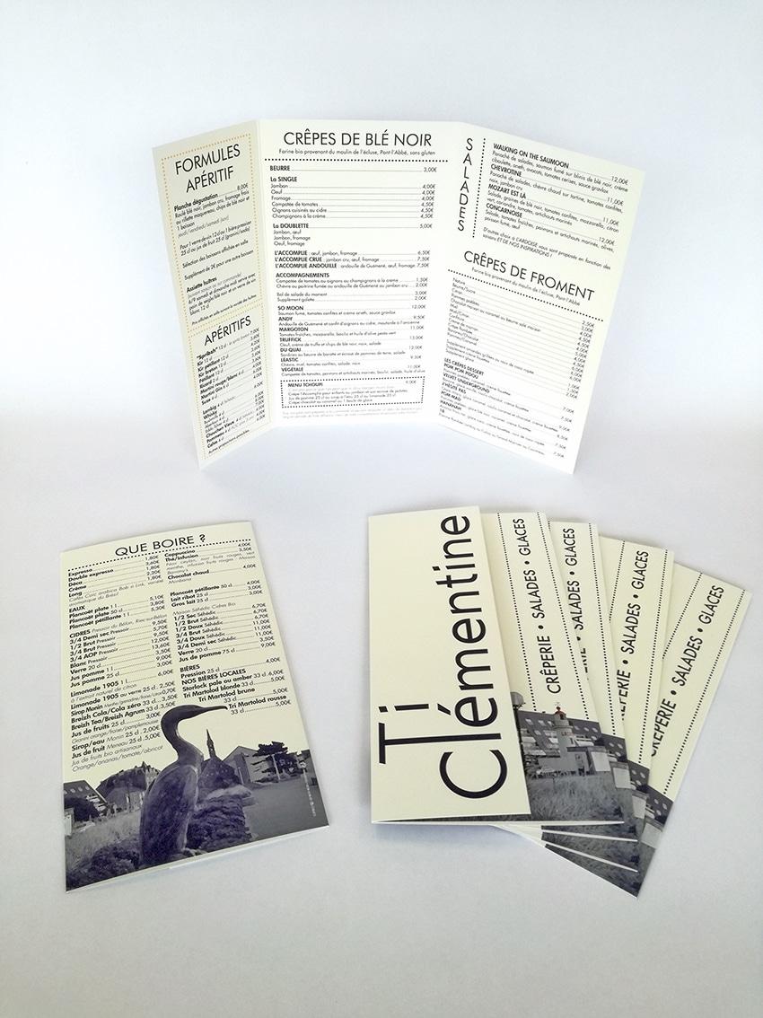 Menu 3 volets - Ti Clémentine - Concarneau