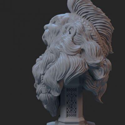 Sculpura imprimata 3d prin tehnologie SLA cu detalii