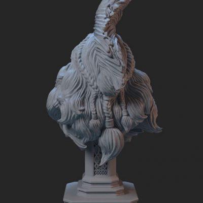 Sculpura imprimata 3d prin tehnologie SLA viching