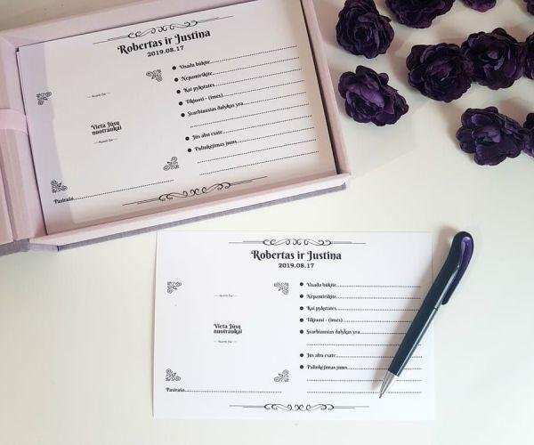 Palinkėjimų dėžutė su kortelėmis - dežučiu gamyba - imprimera12