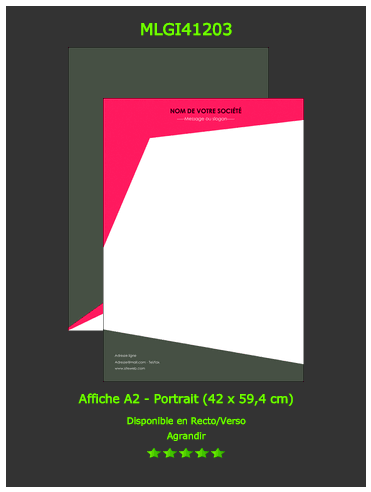 affiche rouge fluo