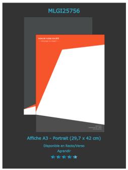 Un exemplaire d 'affiche programme à réaliser sur notre site d'imprimerie en ligne.