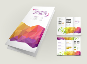 abstract geometric background brochure design
