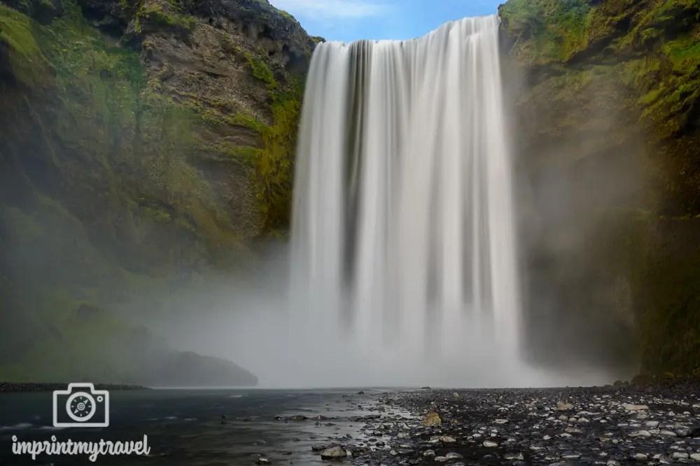 Island Bilder Skogafoss Wasserfall