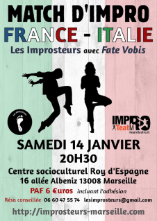 Match avec Improteatro (Fate Vobis), janvier 2017