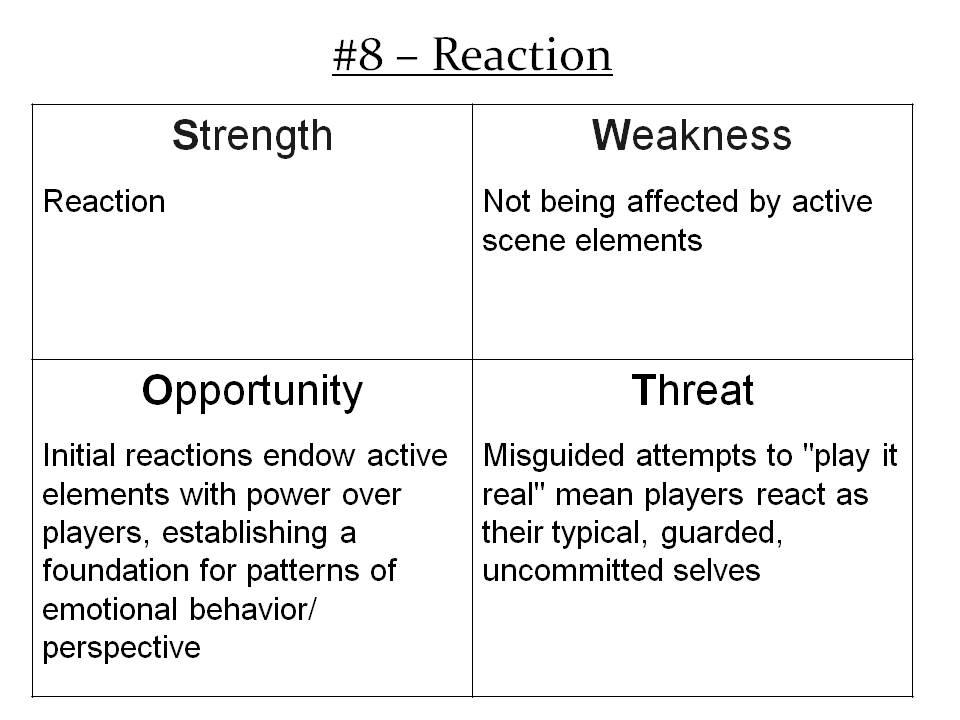 More Info: http://improvdoesbest.com/2013/03/24/swot-8-reaction/