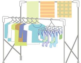 洗濯物や布団の部屋干しには注意