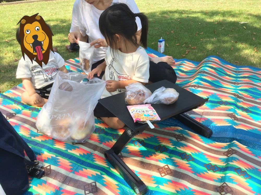 ラップデスクでピクニック