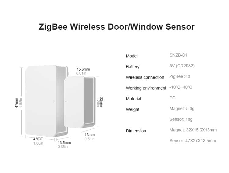 SONOFF SNZB-04 ZigBee