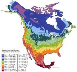 Figure 2: Climate zones North America