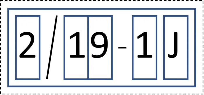 Figure 2: Label of lot number 2/19-1J
