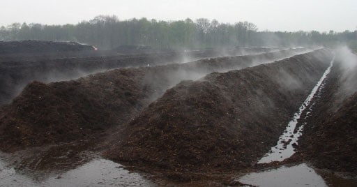 Figure 1: Phase 1 – Piles of compost
