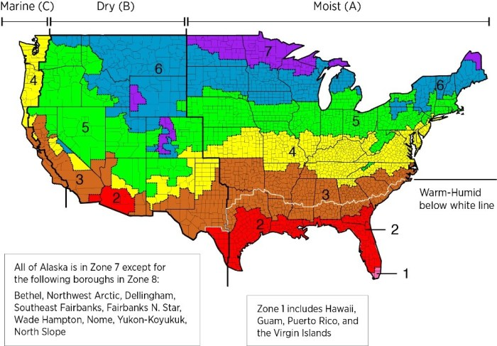 climate zone map USA