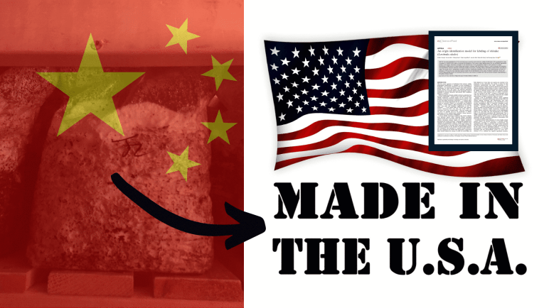 Import from China sold as Made in US