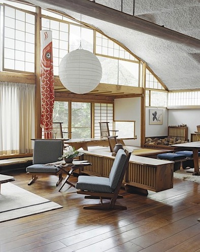 Nakashima Living room light Noguchi