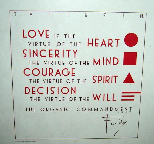 'The Organic Commandment' Frank Lloyd Wright