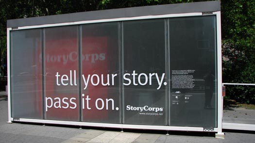 A StoryCorps booth in New York City