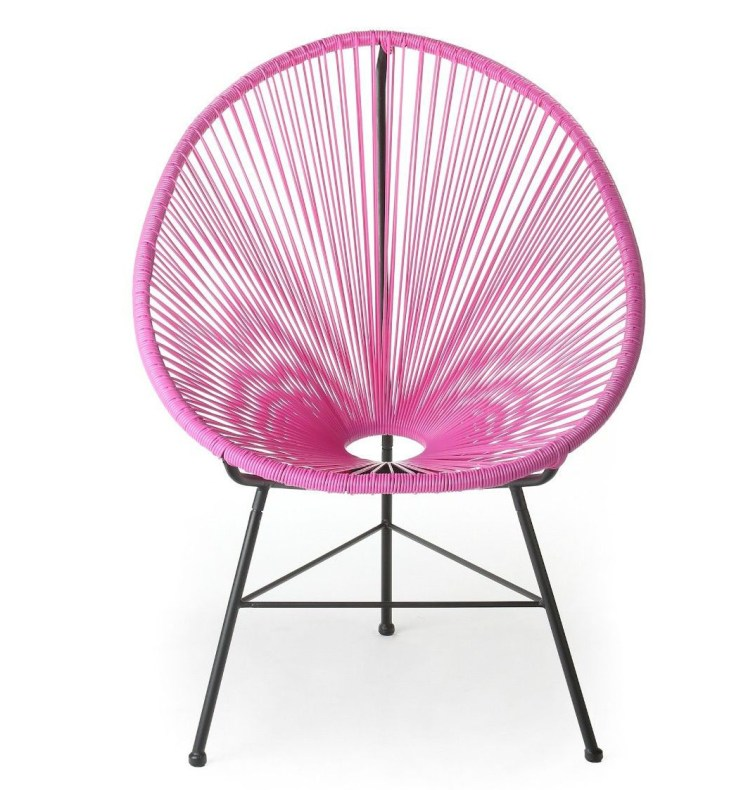 pink acapulco chair