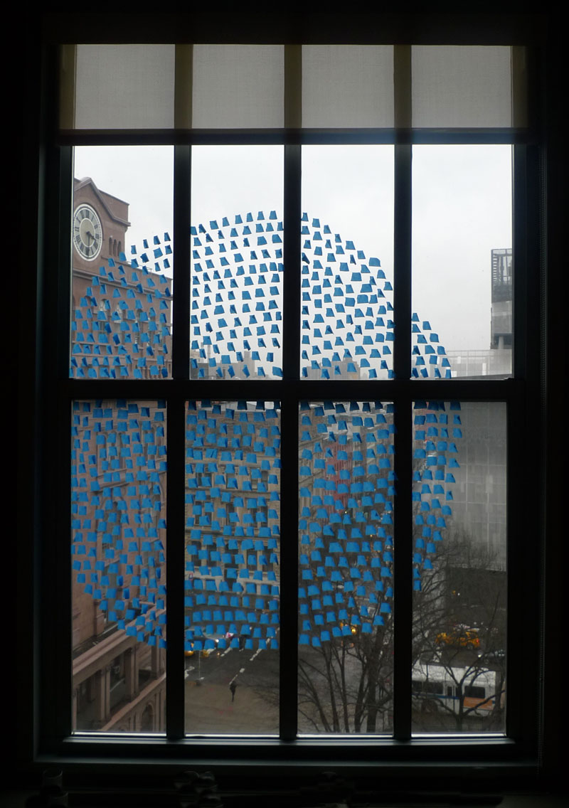 blue tape window tony feher by ss