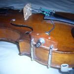 fixation de la prise jack au violon