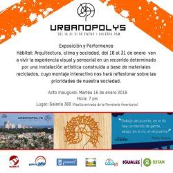 Invitacion Acto Inaugural URBANOPOLYS