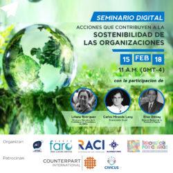 180205 Invitación Webinar 1 2018 - Sostenibilidad organizacional d verde