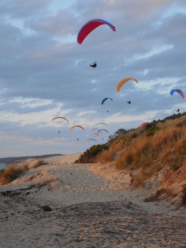 parapentes à la dune du Pyla