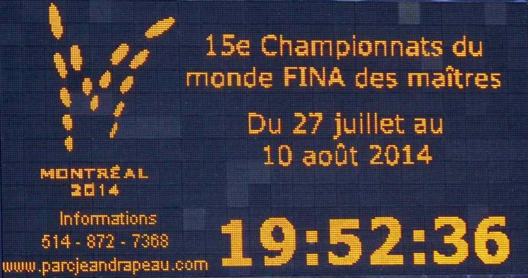 Les Championnats du monde de natation Masters de Montréal