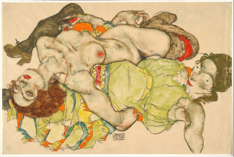 Egon Schiele Female Lovers 1915