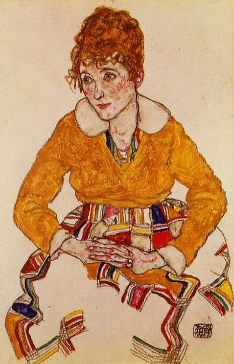 portrait of the artist s wife 1917 egon sile
