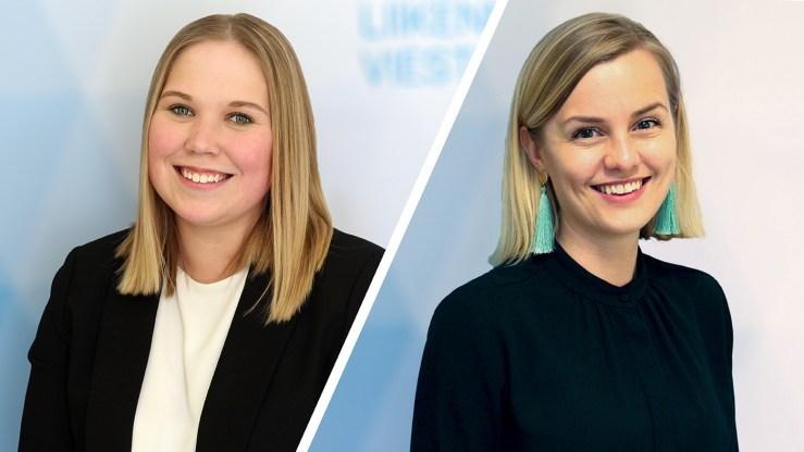 Laura Kolinen, ylitarkastaja ja Maija Rekola, erityisasiantuntija (Kuva: LVM)